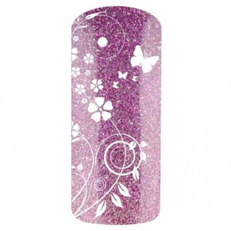 Vernis semi permanent Violet PURPLE GLITTER 7595