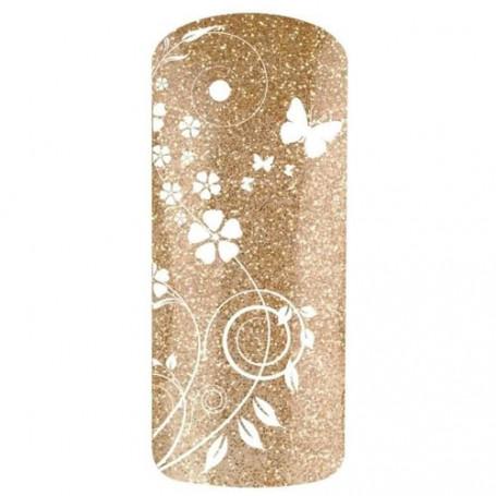Vernis gel UV de finition à paillettes dorées STARLIGHT 7526