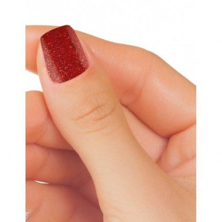 Vernis semi permanent rouge bordeaux pailleté EXTREM GLITTER 2236