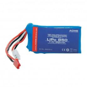 Batterie 2S LiPo 7.4V 850mAh pour drone Zoopa Q650 et Q650 Razor