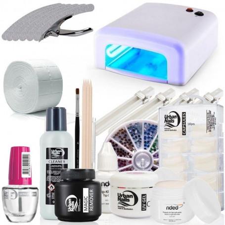 Pack Kit manucure gel UV débutant avec machine à UV