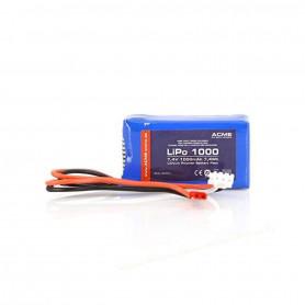 Batterie LiPo 2S 7.4V 1000mAh pour drone et hélicoptère RC Zoopa Q650 / Zoopa 350