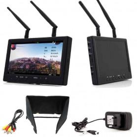 Pack Ecran FPV Tactic Vision Stratos+ FCHD79 avec chargeur HS1126