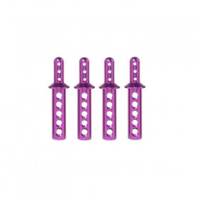 108837 - Aluminium Body Post - 4 Pièces Lot de 4 supports Carrosserie HSP en ALU