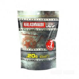 123500, 5000 Billes Airsoft blanches KALASHNIKOV 0.20g