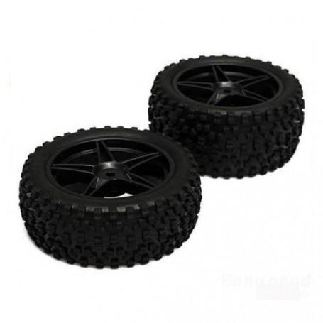 Jeu de 2 roues Avant complètes - Pneus + Jantes pour buggy XSTR et Booster