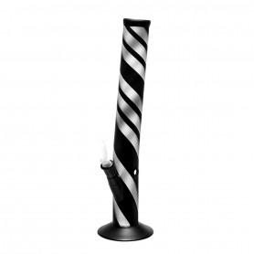 Bang en verre Zebra Bong coudé noir