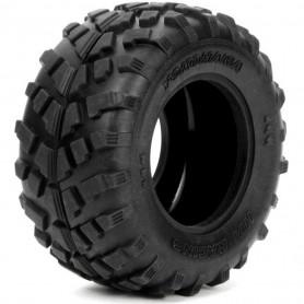 4456, Paire pneus Yokohama Geolandar HPI pr Monster et Trucks E-Firestorm/Wheely King 4x4/Savage XS/Crawler King