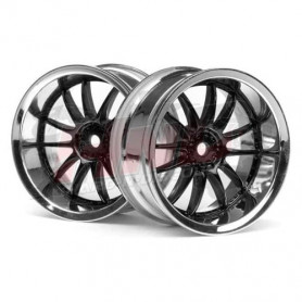 Jantes HPI WORX XSA 02C Noir/Chrome 26x6mm 3287 pour Sprint 2 E10 Nitro RS4 sport 3