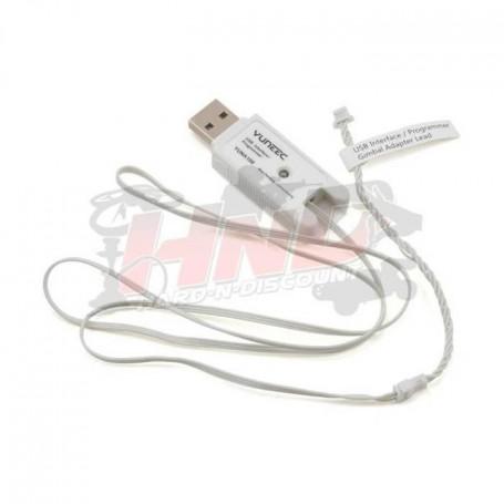 YUNA100, Cable USB pour programmation et mise à jour