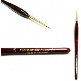 Pinceau Martre Kolinsky Acrylique Taille 3/0 avec poils naturels