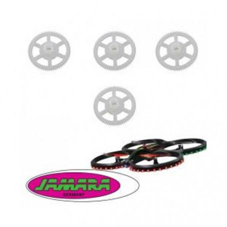 038572 - Jeu de 4 engrenages, pignons, roues dentées, couronnes pour drone Jamara Flyscout