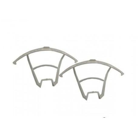 U842-1-06 ou RCU8421-09W, Protections d'hélices par 2 Blanches pour drone UDI RC LARK FPV U842-1