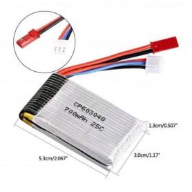 Batterie 2S 700mAh 7,4V 25C pour MJX X600 - BEC et JST
