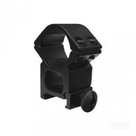 Colliers de Serrage M01, Système de Montage rapide pour Lunette de Visée et Scope Diamètre 25,4mm sur Rail Weaver Picatinny 21mm