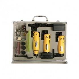 Coffret Perceuse, scie et Ponceuse 12 volts nombreux accessoires - Pour découper, poncer et percer...