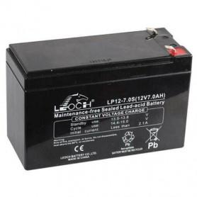 Batterie au Plomb 12V 7A LEOCH pour banc de démarrage et bateau amorceur
