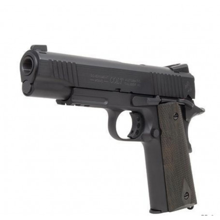 Réplique airsoft Colt 1911 M45A1 Rail Gun Black Mat Full Metal Co2 1.1J
