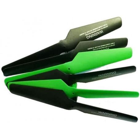 Lot de 6 pales Noires et vertes pour drone Toy Lab Shuriken