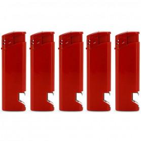 Briquet décapsuleur Rouge par 5