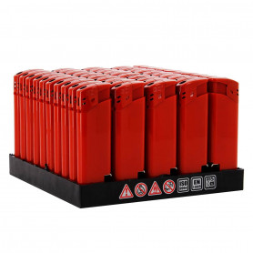 Pack Lot de 50 briquets décapsuleurs Rouge