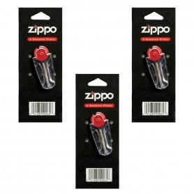 Pack de 3 x 6 Pierres Zippo Officielles