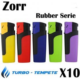 Briquet Tempête électronique Turbo Zorr Rubber Serie par 10