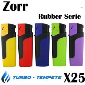 Demi boite de 25 Briquets Tempête Turbo Zorr Rubber Serie