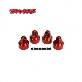 Chapeaux d'amortisseurs rouge en Aluminium 7764R Rouge pour Traxxas X-Maxx