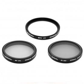 Kit de 3 filtres Photos pour Zenmuse X5 / X5R pour DJI Osmo Pro et Inspire 2 Pro