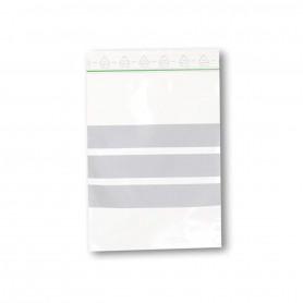 Sacs Zip à Bande blanche 100x150mm 60 microns OrganiZip Label Vert
