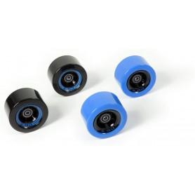 EGO2CR005, Jeu de 4 roues bleues et noires pour Skateboard électrique Yuneec Ego 2
