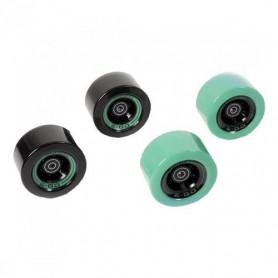 EGO2CR006, Set de 4 roues vertes et noires pour Skateboard électrique Yuneec Ego 2