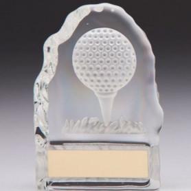 Trophée de golf personnalisable Cristal Challenger 110mm