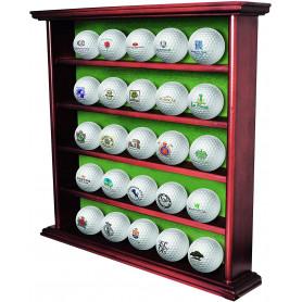 Vitrine en bois pour 25 balles de golf