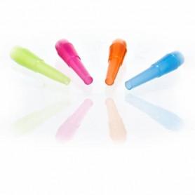 Pack de 4 embouts hygièniques multicolores pour chicha narguilé