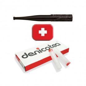 Starter Kit Denicotea avec fume cigarette Grey Collection + 10 filtres