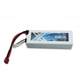Batterie LiPo Am Racing - 4000mAh 14,8V 4S 45C HardCase - Accu Cosse DEAN et JST