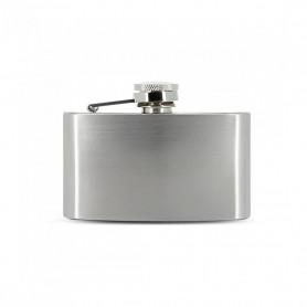 Flasque a alcool Zorr Stainless Steel Finition Métal Brossé 4 oz 120 ml
