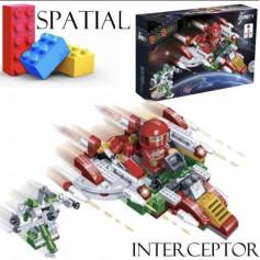 Jeu de construction vaisseau Interceptor 145 briques