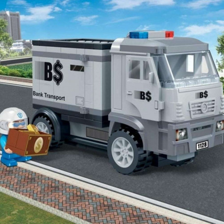 Jeu de construction Police Bank convoyeur de fond 158 briques